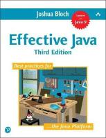 Effective Java 3rd edition
