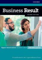 Business Result: Upper-intermediate: Student's Book with Online Practice: Business English you can take to work <em>today</em> 2nd Revised edition