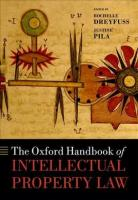 Oxford Handbook of Intellectual Property Law