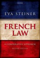 French Law: A Comparative Approach 2nd Revised edition