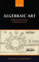 Algebraic Art: Mathematical Formalism and Victorian Culture