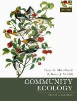 Community Ecology 2nd Revised edition