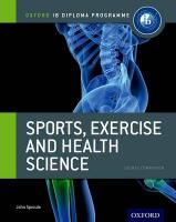 Oxford IB Diploma Programme: Sports, Exercise and Health Science Course   Companion: For the Ib Diploma