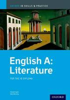 Oxford IB Skills and Practice: English A: Literature for the IB Diploma: For the Ib Diploma