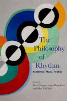 Philosophy of Rhythm: Aesthetics, Music, Poetics