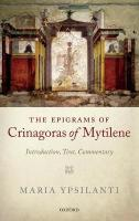 Epigrams of Crinagoras of Mytilene: Introduction, Text, Commentary