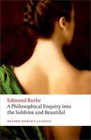 Philosophical Enquiry into the Origin of our Ideas of the Sublime and the   Beautiful 2nd Revised edition