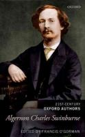 Algernon Charles Swinburne: 21st-Century Oxford Authors