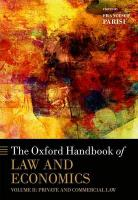Oxford Handbook of Law and Economics: Volume 2: Private and Commercial Law, Volume 2, Private and Commercial Law