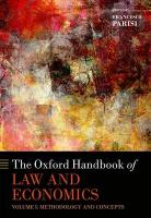 Oxford Handbook of Law and Economics: Volume 1: Methodology and Concepts, Volume 1, Methodology and Concepts