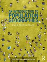 Introduction to Population Geographies: Lives Across Space