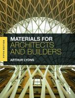 Materials for Architects and Builders 5th New edition