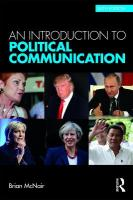 Introduction to Political Communication 6th New edition