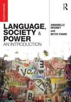 Language, Society and Power: An Introduction 4th New edition