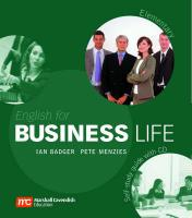 English for Business Life Elementary: Self-Study Guide plus Audio CDs, Elementary