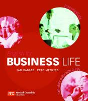 English for Business Life Intermediate : Self-Study Guide plus Audio CDs, Intermediate Level