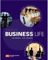 English for Business Life: Upper Intermediate, Upper Intermediate Level