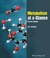 Metabolism at a Glance 4E 4th Revised edition