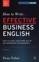 How to Write Effective Business English: Excel at E-mail, Social Media and All Your Professional Communications 2nd Revised edition