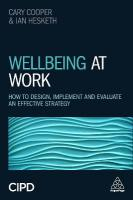 Wellbeing at Work: How to Design, Implement and Evaluate an Effective Strategy