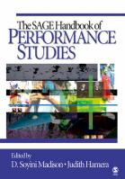 SAGE Handbook of Performance Studies