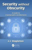 Security without Obscurity: A Guide to Cryptographic Architectures