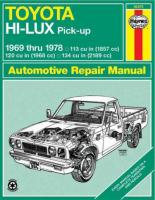 Toyota Hi-lux and Hi-ace Owner's Workshop Manual Revised edition