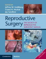 Reproductive Surgery: The Society of Reproductive Surgeons' Manual