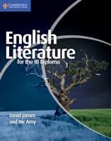 IB Diploma, English Literature for the IB Diploma