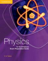Physics for the IB Diploma Exam Preparation Guide, Physics for the IB Diploma Exam Preparation Guide