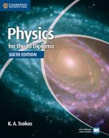 Physics for the IB Diploma Coursebook 6th Revised edition