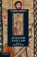 Cambridge Companion to Judaism and Law, The Cambridge Companion to Judaism and Law