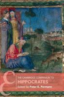 Cambridge Companions to Philosophy, The Cambridge Companion to Hippocrates