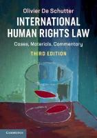International Human Rights Law: Cases, Materials, Commentary 3rd Revised edition