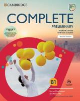 Complete 2nd Revised edition, Complete Preliminary Student's Book Pack (SB wo Answers w Online Practice   and WB wo Answers w Audio Download): For the Revised Exam from 2020