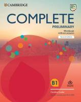 Complete 2nd Revised edition, Complete Preliminary Workbook without Answers with Audio Download: For the   Revised Exam from 2020