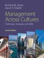 Management across Cultures: Challenges, Strategies, and Skills 4th Revised edition