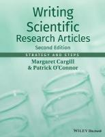 Writing Scientific Research Articles - Strategy   and Steps 2E: Strategy and Steps 2nd Revised edition