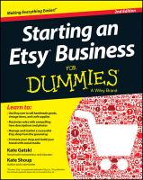 Starting an Etsy Business for Dummies, 2nd Edition 2nd Revised edition