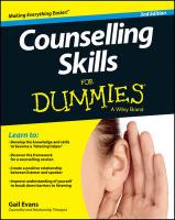 Counselling Skills for Dummies 2E 2nd Revised edition
