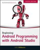 Beginning Android Programming with Android Studio 4th Edition