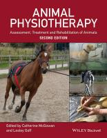 Animal Physiotherapy: Assessment, Treatment and Rehabilitation of Animals 2nd Edition
