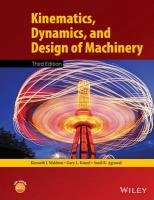 Kinematics, Dynamics, and Design of Machinery 3rd Edition