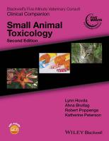 Blackwell's Five-Minute Veterinary Consult Clinical Companion: Small Animal Toxicology 2nd Edition