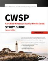 CWSP Certified Wireless Security Professional Study Guide: Exam CWSP-205 2nd Edition