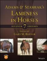 Adams and Stashak's Lameness in Horses 7th Edition