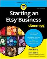 Starting an Etsy Business For Dummies 3rd Edition
