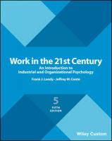 Work in the 21st Century: An Introduction to Industrial and Organizational Psychology 5th Revised edition