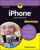 iPhone For Seniors For Dummies 7th Edition