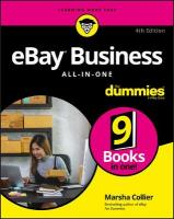 eBay Business All-in-One For Dummies 4th Edition